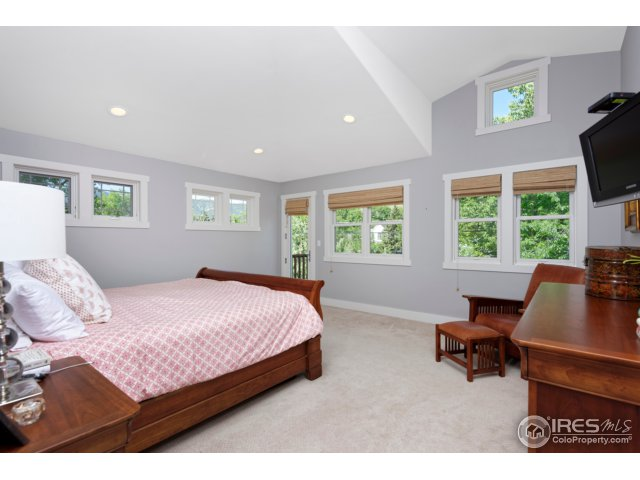 Master Bedroom with Deck and Cathedral Ceiling