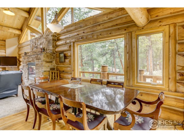 Dining Area w/ windows to the forest