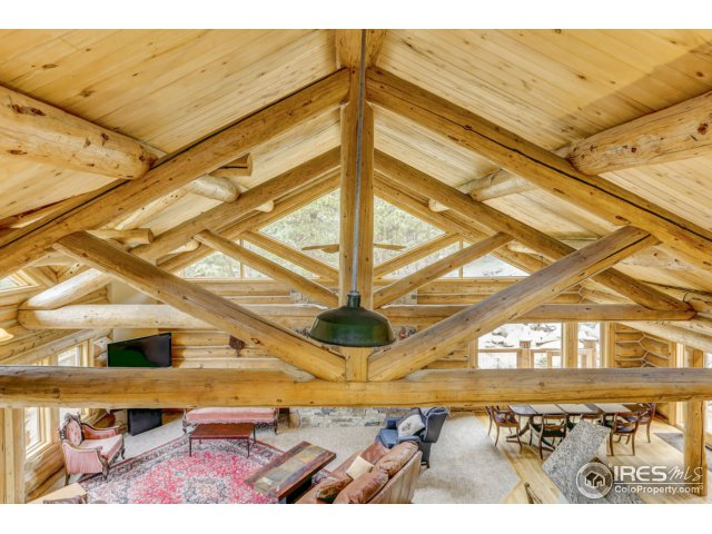 Log Beam Ceiling - View from Loft