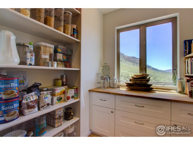 Large Pantry w Custom Shelving and Views