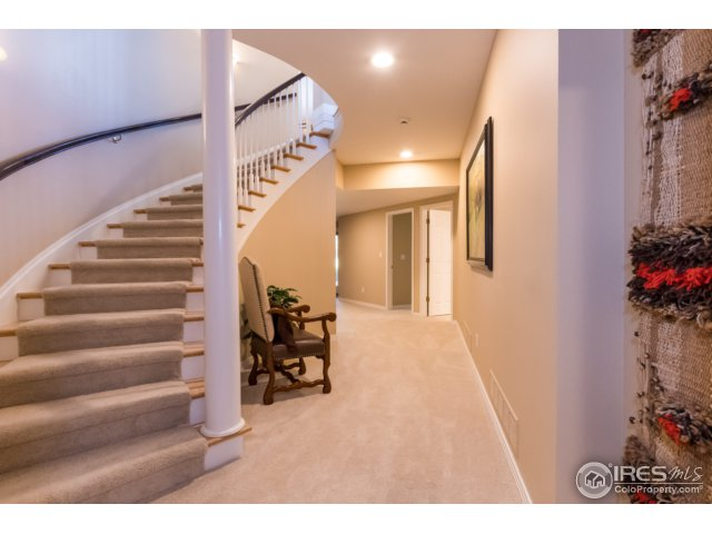 Stairs to the walk out basement