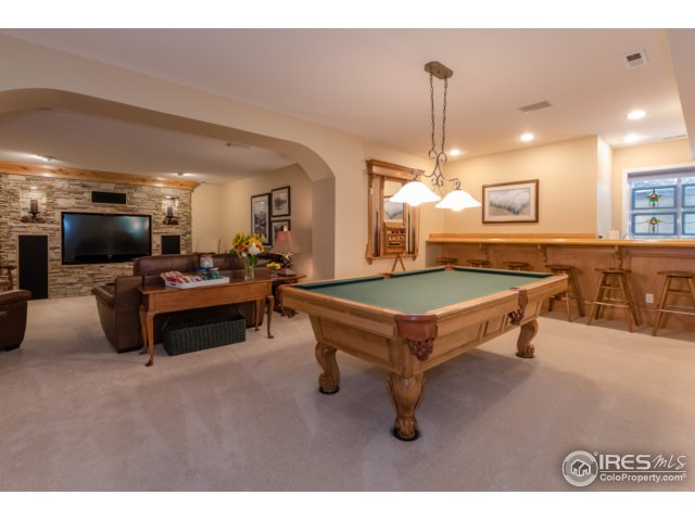 Basement with theater room