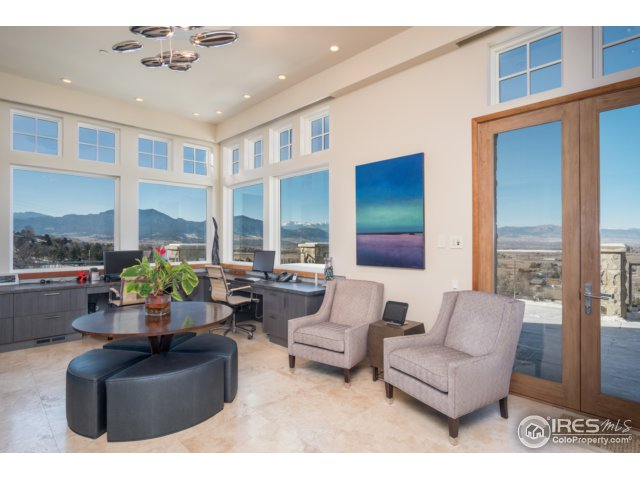 Spectacular office w/2-story ceilings and views