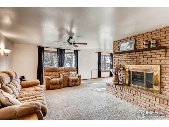 Living Room w/ Brick Fireplace