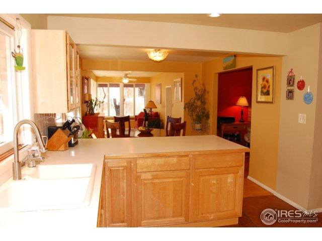 open kitchen with bar area