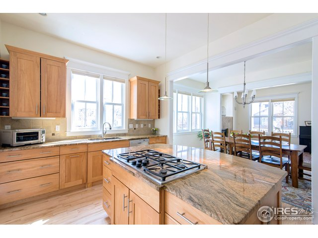 high end appliances, maple cabss, granite counters