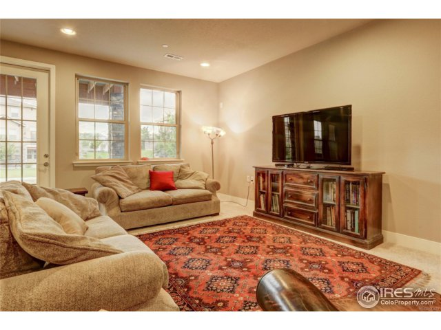Basement Family Room with view to walk-out