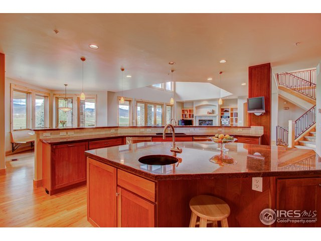 Cherry Cabinetry & granite counters