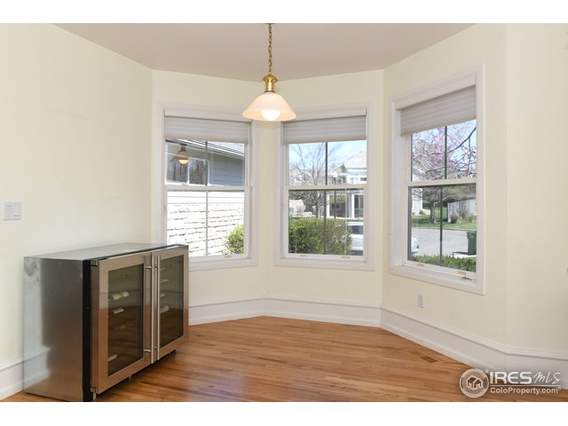 Kitchen bay window, wine cooler not included