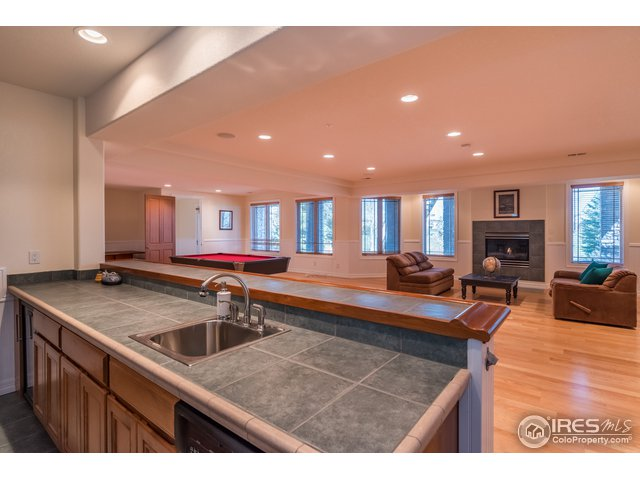 Lower Level Rec. Room w/ Gas Fireplace & Bar