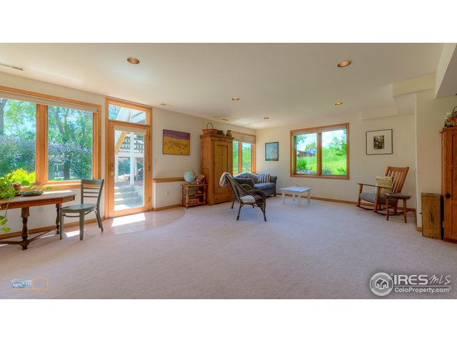 family room with access to back yard & patio
