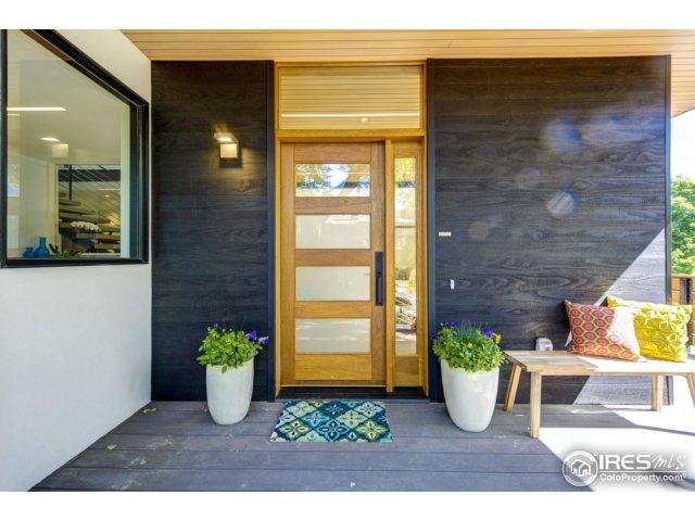 Teak 5-Glass Panel Front Door