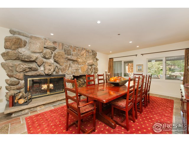 Formal Dining with wood burning fireplace