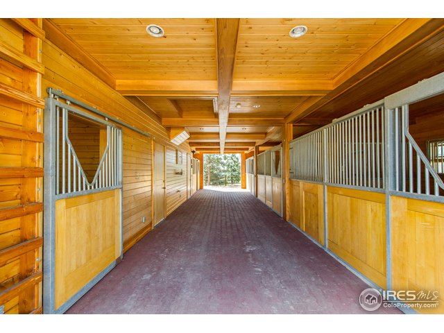Barn Interior/ Office and Hay Storage on 2nd Floor