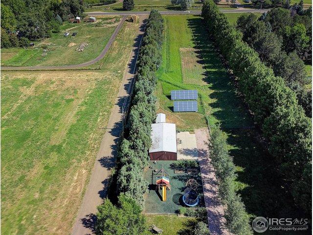 play area, shop and solar array