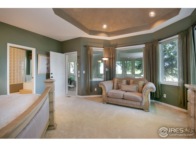 Coffered ceiling in Master bedroom, sitting area