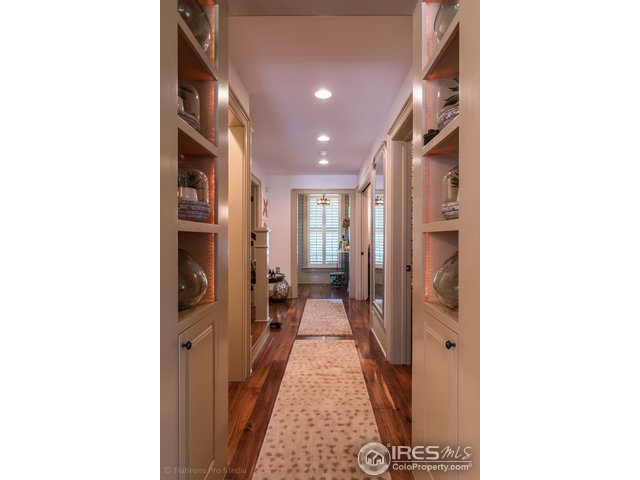 Hallway with Custom Built Ins