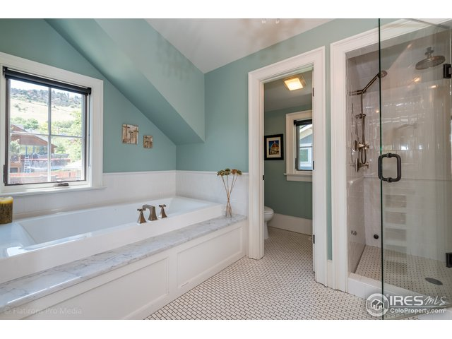 Master Bath with Steam Shower and Jetted Tub