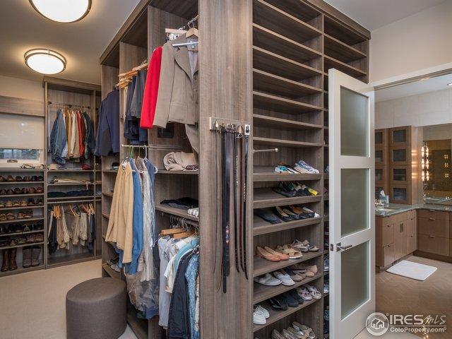 Custom closet in Master Bedroom