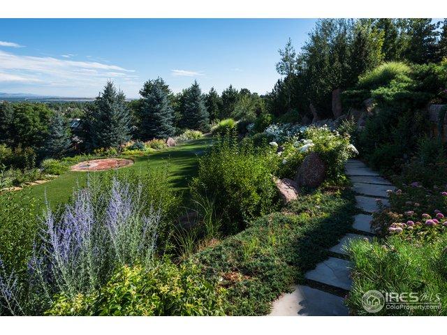 Gorgeous gardens with stone walking paths.