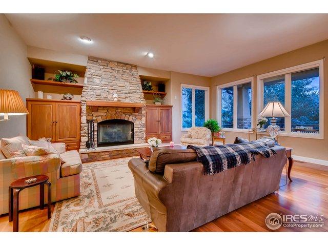 Family Room w/ Stone Gas Fireplace