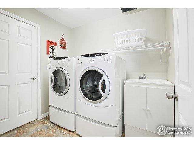 Main floor Laundry with laundry chute