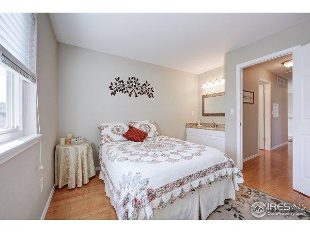 bdrm #3 has wood floors + private vanity and sink