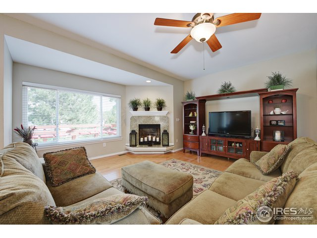 Familyrm with gas fireplace,granite hearth