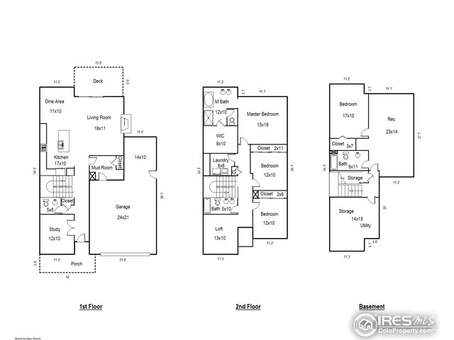 Appraiser measured floor plan