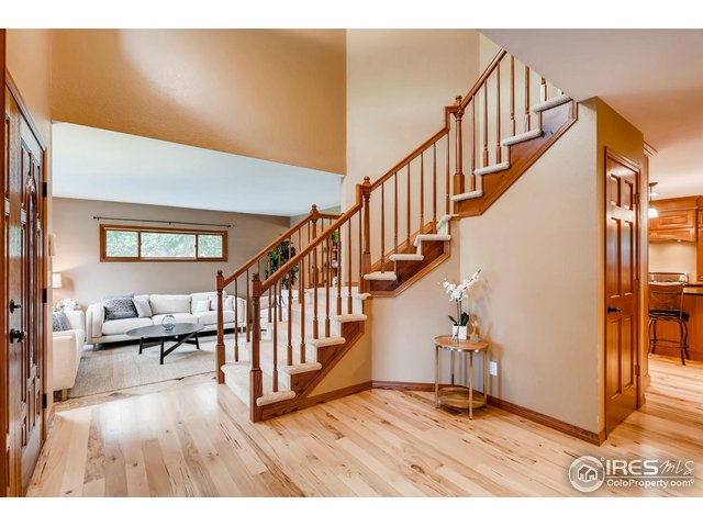 Soaring two story foyer to greet guests.