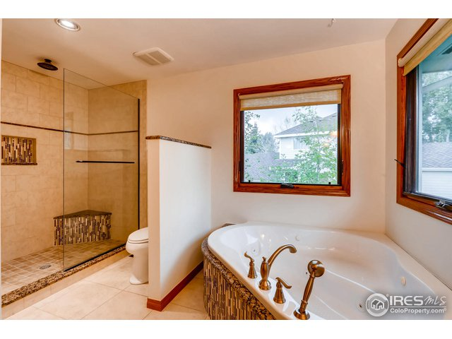Jetted tub and large shower