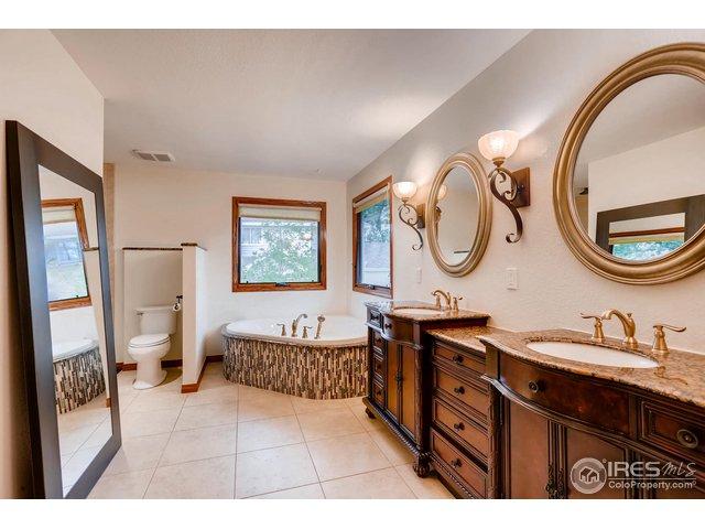 5 piece master bath; radiant floor heating