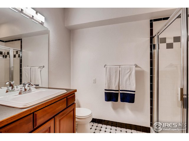 3/4 Bathroom - Basement; with laundry hook up