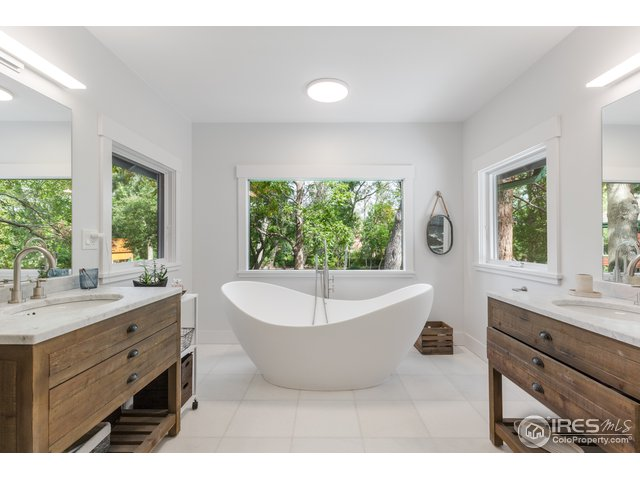 Master Bath with View.