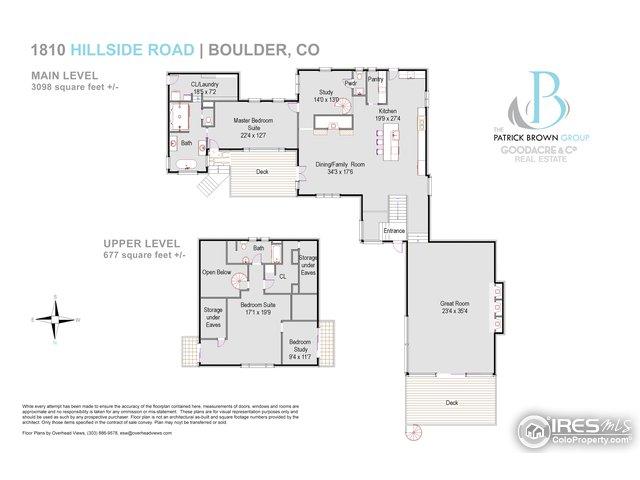 Main & Upper Level Floorplan