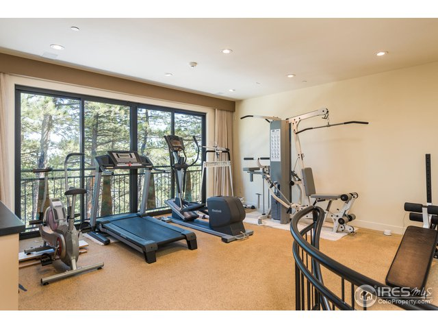 HOME GYM WITH CUSHIONED RUBBER FLOORING