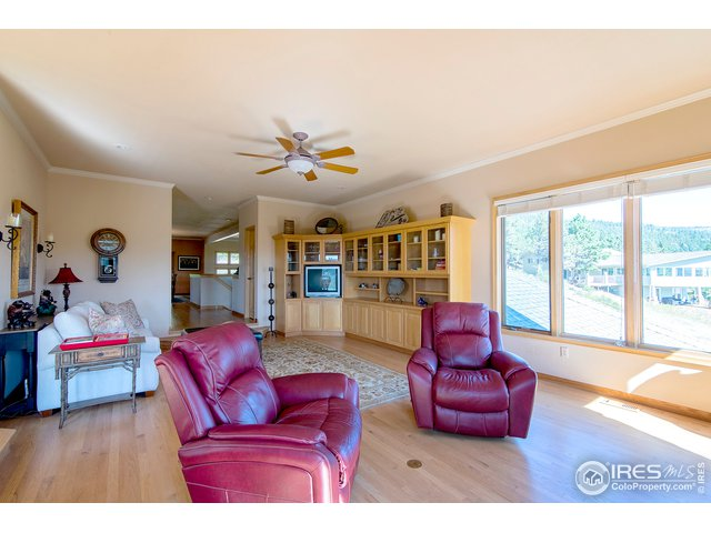 open family room to kitchen area
