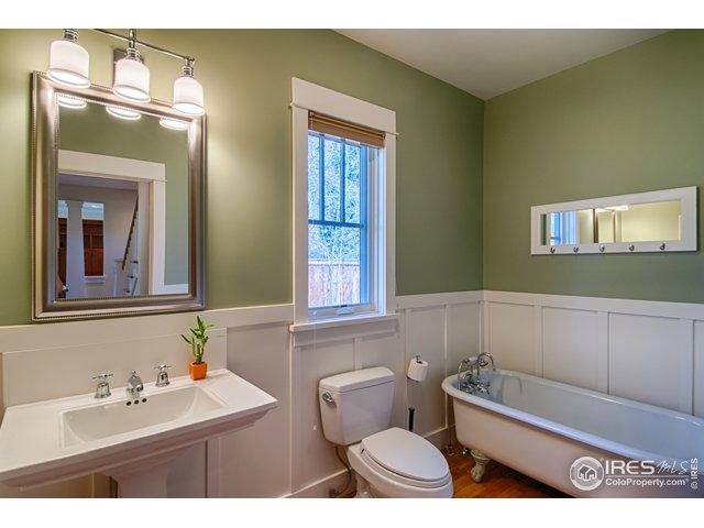 Main level full bath w/claw foot tub