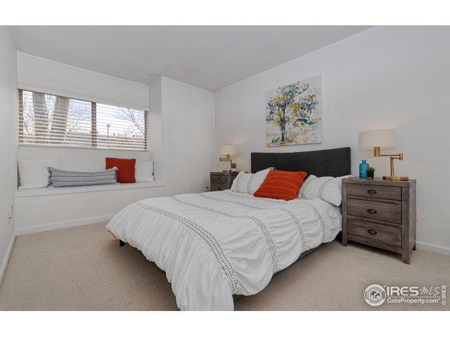 Master bedroom is light & bright.