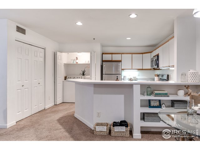 Open kitchen/living/dining space