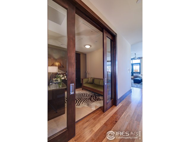 Office with pocket doors