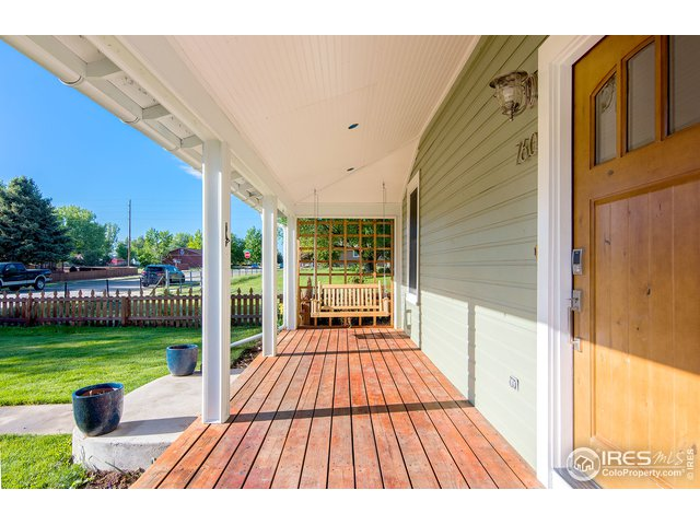 Welcoming covered front porch