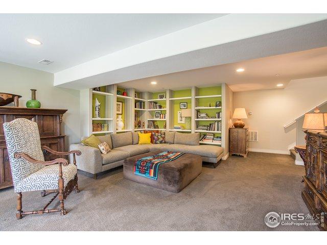 lower level rec. room w/built ins