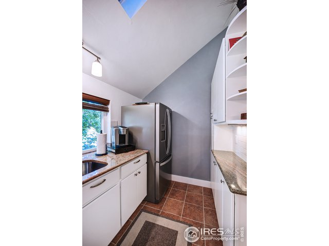 Kitchen with heated tile floors