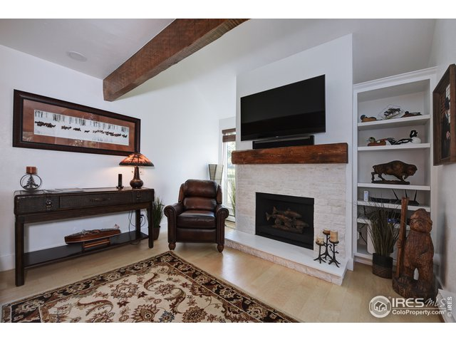 Built-in Bookcase & Fireplace w/ new stone