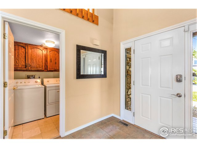 Entry & mud/laundry room with garage access