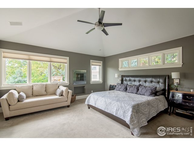 Master bedroom has private deck with hot tub