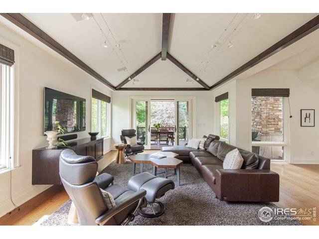 Large family room opens to outdoor covered deck